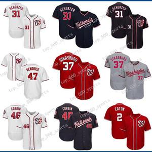 Washington Hombres camiseta Nacionales Max Scherzer Howie Kendrick Stephen Strasburg Patrick Corbin Adam Eaton béisbol jerseys de encargo cualquier jerseys