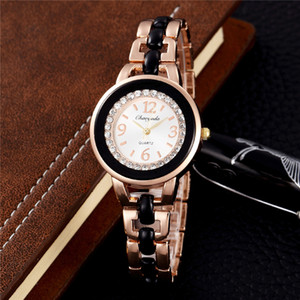 Moda Rose Gold Bracelet Mulheres Relógios Chaoyada Feminino Quartz relógio Ladies Watch Casual com strass Bayan Kol Saati