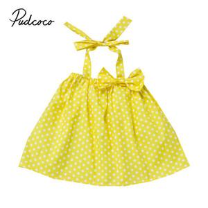 2019 бренд малышей новорожденных девочек летняя одежда горошек Холтер платье топы блузка One-pieces милые детские топы