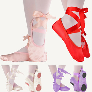 Fille Enfants Chaussures Ballet dames Yoga Gymnastic Toe Pointe satin Ruban Chaussures de danse