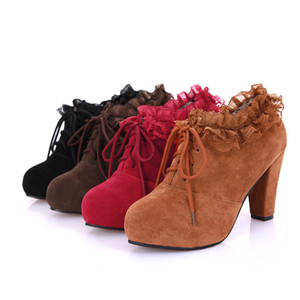 Female Brand Fashion Elegant Women Boots Casual Platform Wedges Boots for Women Ladies Sexy High Heels Ankle Boots SSF698