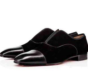 Черная мужская свадебная обувь Оксфорды Мужская деловая обувь с плоским красным дном Дизайнер Alpha Male P Strass Плоские низкие каблуки Мужчины Повседневная обувь