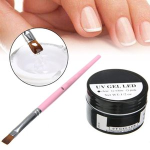 20ml UV Builder Gel Nail Art Extension Gel + Nail Art Brush Pen Manicure Tools Shaper White Pink Clear