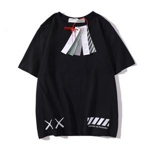 A camisa dos homens t Summer Fashion casual wear OFF Preto Whiter camisa de algodão de manga curta Unisex partes superiores das mulheres impressos tees S-XXL