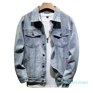 Autumn denim jacket male Korean version of the trend of youth casual gradient jacket high school students handsome handsome jacket