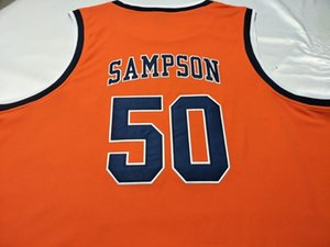 Custom Men Youth women Vintage #50 Ralph Sampson Virginia Tech University basketball Jersey Size S-4XL or custom any name or number jersey