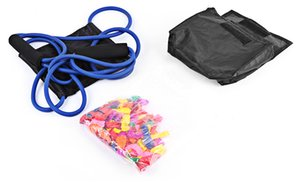 Handy Rope Muscle Developer Puller Resistance Bands Water Ball Launcher with Balloons Arms Legs Exercise Fitness Equipment