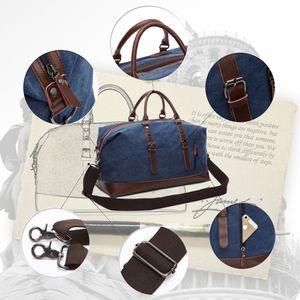 MARKROYAL мода холст дорожная сумка кожа большой емкости старинные сумки для багажа повседневная винтажная простая сумка DropshippingDAFa