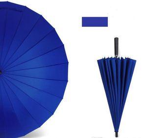 24 Osso cor sólida Adulto manual reta tratar de negócios presente Golf Umbrella Publicidade Longo Umbrella 777