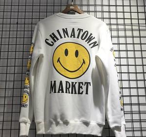 CPFM Уличная Smiley Face Fashion Kanye Кофты для мужчин женщин Пуловер Kanye Улыбайтесь Толстовка China Town Market XSQ