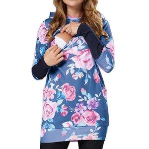 Womens Maternity Print Hoodie Sweatershirt Breastfeeding Nursing Jumper Tops Pregnancy Vestido Embarazada Sweatershirts Clothes