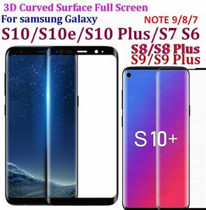 9H 3D 5D 9D Curved Surface Full Screen Tempered Glass Protector Film For Samsung Galaxy S10 S9 S8 S7 S6 Edge plus Note 9 8 7
