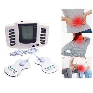 Muscle Inglês versão elétrica Estimulador corpo emagrecimento Massager pulso Dezenas Acupuntura Máquina + 16Pads + / US plug UE
