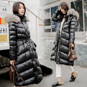 Winter Jacket Women Duck Down Parka Real Fur Collar Women Jacket Winter Hooded Parkas Warm Thick Long Female Coat Waterproof
