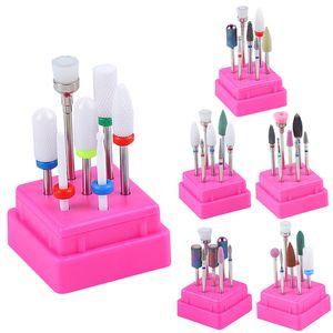 7pcs set Milling Cutter For Manicure Ceramic Tungsten alloy Nail Drill Bits Manicure Machine Accessories Electric Nail Files