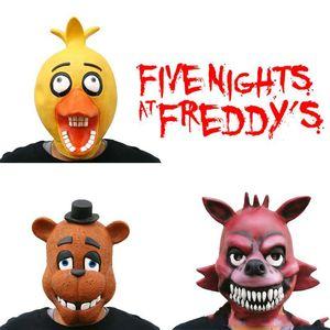 Masques de cinq nuits Freddy Masques Halloween Costume Naoshima Masmasquerade Party cosplay Mascara Cinq Nuits mascarade Clown Mask