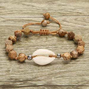 Bracelets Shell naturel pour les femmes Charm Bracelet Pierre Femme tissé chaîne main corde design 2019 bijoux à la mode Nouveau