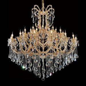 Современные прозрачные золотые хрустальные люстры домашнее освещение люстры de cristal украшения роскошные свечи люстры подвески гостиная крытый светильник
