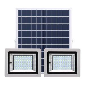Lâmpadas dupla Solar Focos 72LEDs 126LEDs 160LEDs 200LEDs Solar Outdoor Flood Lâmpada Luz Paisagem com controle remoto para Lawn Garden