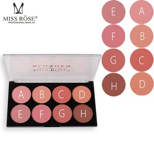 Natural Blush Blusher Face Base 8 Colors Blush Mineral Palettes pink Blusher  maquillage facial MISS ROSE