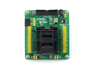 Freeshipping STM32 LQFP64 QFP64 QFP Paket Programlama Adaptörü Test Soketi 0.5mm Pitch = STM32-QFP64