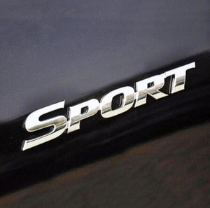 3D Plastic Chrome Logo Car Sticker SPORT Emblem Badge Door Decal Auto Accesorios para Toyota Highlander BMW HONDA VW Car Styling