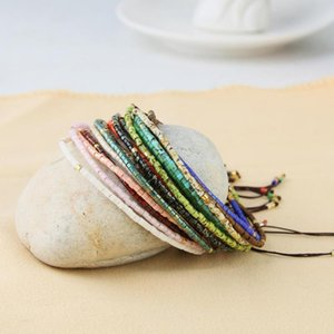 KELITCH 2020 Friendship Bracelets Thin Rope Bracelets Handmade Miyuki Seed Beaded Strand Bracelet Women Fashion Charm