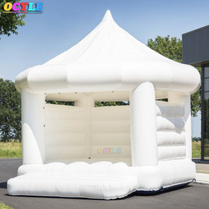 ГОРЯЧАЯ Бесплатная доставка двери большой надувной отказов дом для продажи, белый надувной перемычки лунной походки, надувной батут