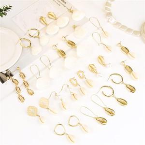 Bohemia Shell earrings women shell stud earrings dangle chandelier summer beach fashion jewelry will and andy jewelry