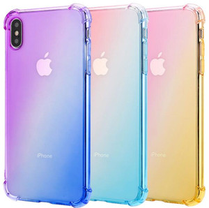iphone case Gradient Colors Anti Shock Airbag Soft Clear Cases For IPhone XR XS MAX 8 7Plus 6S For designer phone case C0001