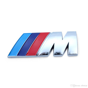 10 قطعة 84x32cm شعار المعدنية ملصقات الأسود M /// M الفضة شعار التصميم شارة الشارات ملصق 3D لBMW M