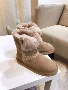 2020 heißen Verkauf-australische Frauen-Schnee-Boost WGG Damen Schneestiefel echtes Rindsleder Stiefeletten warme Winterstiefel Frau shoes35-40