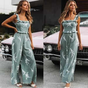 Trendy2019 The Fungus Suit-dress Edge Of The Dew Back Sexy Camisole Printing Lin Tai Pants
