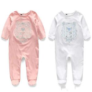 Promoción primavera verano de manga larga de algodón mameluco del bebé ropa ropa de niños de dibujos animados bebé animal de la moda de la muchacha del mono Rompe