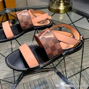sandali delle nuove donne PASSEGGERO SANDALO donne 1A5LUO cuoio formato casuale di modo di qualità superiore 35-42 con la scatola
