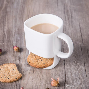 Neueste Keramik-Becher Weißer Tee Biscuits Milch Dessert Tasse, Teetasse, Kaffeetassen Home Office 60pcs / lot IC852