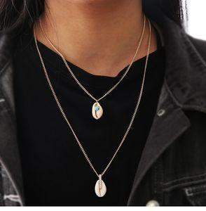 ingrosso gioielli in oro europeo e americano nuovo modo semplice placcato di Shell Micro set di diamanti collana per le donne