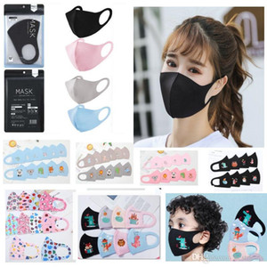 PM2.5 Adult Kids Anti-pollution Masks Boys Girls Cartoon Mouth Face Masks Kids Anti-Dust Breathable Earloop Washable Reusable Cotton Mask