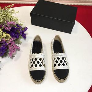marque classique Femmes Mocassins en cuir, Espadrille Flats avec de la paille de tissage Soles Casual chaussures Fisher femmes Slip-on pour une utilisation quotidienne