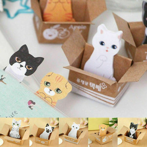 Новые симпатичные 3D кошка стикер заметки закладка флаги Блокнот школьных принадлежностей