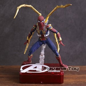 S.H.Figuarts Avengers Infinity War Spiderman Iron Spider Tamashii Stage PVC Action Figure Da collezione Model Toy