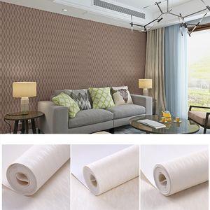 New 2019 Europeu minimalista moderno liso não tecido Wallpapers Quarto Wall Paper Textures Sala de jantar Hotel listrado Wallpapers