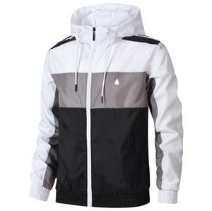 Autunno Giacche Mens con 3 Jacket strisce cerniera uomini Windbreaker cappotti all'aperto modo di inverno rivestimento di marca Outdoorwear Abbigliamento