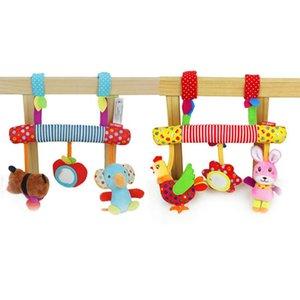 Landau poussette Jouet animal Ornements Pendentif bébé todder doux animal Rattle Hanging Doll Berceau mobile poussette éducation cadeau Toy