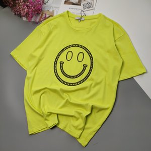 20ss New Arrival Paris designer fashion Openwork embroidery Smiley Tshirts Short Sleeve Tee Breathable Shirt Streetwear Outdoor Tshirt 7.1