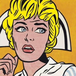 Roy Lichtenstein Ölgemälde auf Leinwand Pop-Art-Home Decor Nurse 1964 Handpainted HD-Druck-Wand-Kunst Leinwandbilder 191030