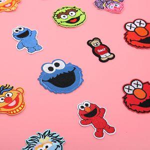 Rue Sésame Correctifs brodé Appliqué Iron avec de la colle Anime Cookie Monster Elmo Tissu Badges