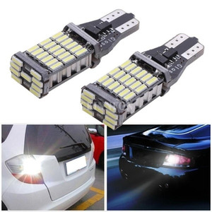 200pcs / Lot Ampoule Led T15 T16 W16W 45SMD 4014 Led voiture inverse Retour Ampoules 12V 6000K Blanc Lampe automatique d'éclairage Signal