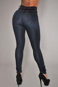 Women « S taille haute broderie florale Ripped Jeans Skinny Pantalons Denim européenne et American Hot vente L Femme Ama cinq boutons