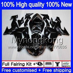 Karosserie für Kawasaki ZX 10 R ZX1000C ZX10R 2006 2007 215MY.1 Schwarz Glossy ZX1000 C ZX10R 06 07 ZX 1000CC ZX 10R 06 07 ABS-Verkleidungen